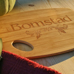 Personalized Bamboo Cutting Board with Laser Engraved Name by Scissor Mill - This personalized cutting board will be a welcome addition to the kitchen all year-round.