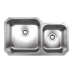 Whitehaus - Whitehaus Noah's Collection Double Kitchen sink - 18/8 chrome and nickel content