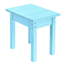 C.R. Plastic Products - C.R. Plastics Small Table In Aqua - Can be used for residential or commercial use, Ergonomically designed, Heavy 78 gauge plastic lumber 12 used by competitors, All stainless steel hardware, No painting, No slivers, No Rot, Completely waterproof