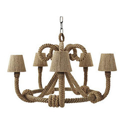 Nautique Jute Chandelier - I love a home with character. An oceanfront or island home is a little more special with a bit of whimsy.