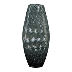 Cyan Design - Cyan Design Large Pistachio Vase X-77120 - Translucent glass has been paired with a swirled pattern, creating a faux diamond pattern to the body of this Cyan Design vase. This large vase from the Pistachio Collection also features beautiful Smoked Light Green coloring, which is surprisingly neutral and versatile in an array of settings.