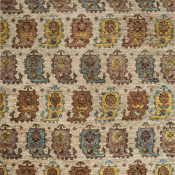 "Loloi Rugs - Loloi Rugs Xavier Collection - Sand / Multi, 2'-0"" x 3'-0"" - The sumptuous Xavier Collection is distinguished by its plush feel and bright, bold color palette. Hand knotted with 100% jute from India, Xavier's large scale Ikat design offers sophistication that works as an incredible centerpiece for a variety of room settings."