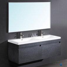 Fresca Largo Black Modern Bathroom Vanity two finishes, Gray Oak and Teak
