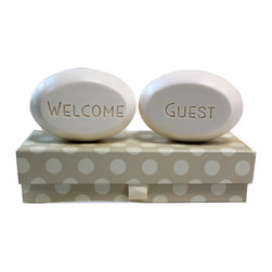 New Hope Soap - Scented Soap Bar Personalized – Welcome & Guest, Lavender Mist - Personalized Scented Soap Bar Gift Set Engraved with Welcome & Guest