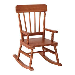 Levels of Discovery - Levels of Discovery Simply Classic Rocker - Maple - RAB00051 - Shop for Childrens Rocking Chairs from Hayneedle.com! With a style that evokes images of quiet evenings in front of the fireplace or on the front porch the Levels of Discovery Simply Classic Rocker - Maple introduces your little one to life's simple pleasures. This wide sturdy chair is made from solid wood with a warm maple finish that accentuates the turned spindle legs and graceful design. With its timeless style and heirloom-quality craftsmanship this chair is sure to be enjoyed by generations of children and grandchildren.You can personalize this rocker with an understamp beneath the seat by writing your childs name making this chair the perfect gift for baby showers birthdays or holidays. A photo greeting card is included so the child can say Thank You in a memorable way.