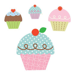 York Wallcoverings - Happi Cupcake Land Large Wall Self-Stick Accent Set - Features: