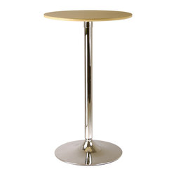 Winsome - Kallie 23.5 in.  Round Pub Table - Kallie 23.5 in. Round Pub Table Veneer wood top with metal base