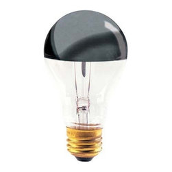 Bulbrite - Half Chrome A, 21 Medium Base Bulb - Hey, what's with the chrome dome? Oh yeah, it's this ultra-cool light bulb that reflects back upon itself for a distinct lighting experience. It's the bulb that sets the mood.