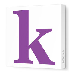 "Avalisa - Letter - Lower Case 'k' Stretched Wall Art, 12"" x 12"", Purple - Spell it out loud. These lowercase letters on stretched canvas would look wonderful in a nursery touting your little one's name, but don't stop there; they could work most anywhere in the home you'd like to add some playful text to the walls. Mix and match colors for a truly fun feel or stick to one color for a more uniform look."