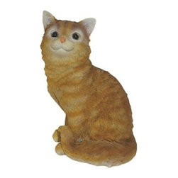 Michael Carr Hazel the Cat Resin Statue - The Michael Carr Hazel the Cat Resin Statue makes a playful and adorable addition to any indoor or outdoor space. Part of the Cats collection from Michael Carr Designs, this cute and lifelike creature adds personality and charm to any yard or garden. This handsome critter is hand-made from durable high-quality polyresin material and then hand-painted for quality. The durable polyresin has a U.V. coating that resists cracking or chipping from the sun.About Michael Carr DesignsDesigning an exclusive line of high-end garden pottery, fountains, statuaries, and bird baths, Michael Carr Designs brings something new and innovative to your outdoor living space. There's something for everyone with their fashionable colors, soft raining finishes, and multiple styles. Each piece is hand-made beginning with a craftsman molding the clay and ending with a rustic Old World kiln. This means each piece is unique, a true one-of-a-kind. Michael Carr Designs works in a variety of materials like Vietnamese glazed pottery, Malaysian pottery, Italian terracotta pottery, and resin just to name a few.