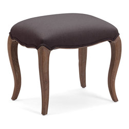 Zuo Modern Contemporary, Inc. - Madrona Stool Gray - Seductive curves make the Madrona Chair a boudouir favorite. Wood legs swoop to the floor under a smoothly contoured cushion. Comes in gray or beige.