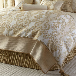 """Austin Horn Classics - King Chenille Comforter 106"""" x 96"""" - FRENCH VANILLA (106X96) - Austin Horn ClassicsKing Chenille Comforter 106"""" x 96""""DetailsBy Austin Horn Classics.Hand-quilted jacquard-woven floral medallion chenille comforters have a lofty polyester fill and cotton backing. Finished with cording and two tassels.Dry clean.Made in the USA of imported and domestic fabrics."""