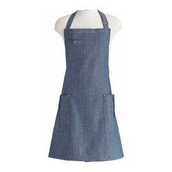 Jessie Steele - Jessie Steele Apron, The BBQ Denim - Jessie Steele BBQ Denim Apron: This apron is perfect for outdoor grilling. It's fashionable and functional. With straps on the waist and neck for adjustment. Made from 100% sturdy cotton canvas