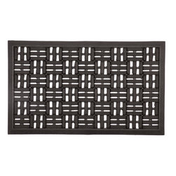 Entryways - Scraper Squares Recycled Rubber Doormat - Inspired by a weaved rug, this design will add classic grace to any entryway. Intricate and beautiful, it is also durable and easy to clean.