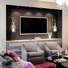 Contemporary Home Theater by Sara Ingrassia Interiors