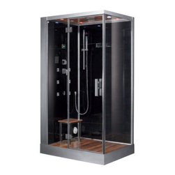 Ariel Platinum - Ariel Platinum DZ959F8 Steam Shower 47x35.4x84.6 - Left - These fully loaded steam showers include massage jets, ceiling & handheld showerheads, chromotherapy, aromatherapy and built in radios to help maximize the therapeutic experience.