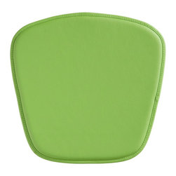 "Zuo - Zuo Modern Wire/Mesh Green Seat Cushion - This simple green cushion is perfect for any of the Zuo Modern Wire or Mesh chairs. It adds even more comfort to the already functional curvaceous furniture designs. The PVC material is water-resistant and easy to clean with water and a soft brush. Green PVC water-resistant cushion. Stitched trim detail. Foam fill. 18 1/2"" wide 1/2"" thick.  Green PVC water-resistant cushion.  Stitched trim detail.  Foam fill.  18 1/2"" wide 1/2"" thick."