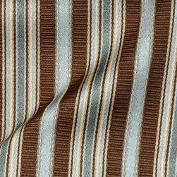 Stripe - Blue/Mist Upholstery Fabric - Item #1010517-228.