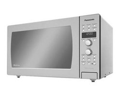 "Panasonic - Panasonic 1.5 Cubic-Foot Convection Microwave - Convection Microwave stainless - 1.5 Cu ft. - 1100 Watts Convection & Microwave Cooking Easy-To-Operate DUAL Dial Controls with Button Panel 6 Digit Display Menu Action Screen Easy-To-Clean Stainless Steel Interior One-Touch Sensor Cooking & Reheat Inverter Turbo Defrost Popcorn Key Keep Warm Quick Minute ""More/Less Control"