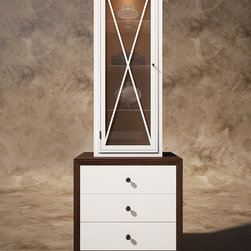 VG brown/white cabinet - © Designed by Vanguard development