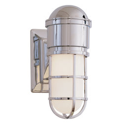 Marine Wall Light - You may not have a beach house yet, but you can still pull of the look with some classic lighting. Choose from bronze or chrome hardware to match your home's aesthetic and transform your front porch. It's the perfect lighting for anyone who loves the nautical look.