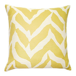 Butter-Yellow Wild Print Pillow