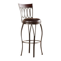 Holly and Martin - Brookshire Swivel Bar Stool - Enhance your home with fashionable convenience. The cast ovals and curved legs of this bar stool create a sleek and sophisticated look.