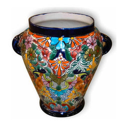 Imperial Vase - Picture one of this huge vases decorating your stairway or foyer. Picture Multicolor-Cobalt.