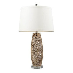 Dimond Maria Ceramic Table Lamp D2261 - About DimondThe newest member of the E.L.K. Lighting family, Dimond Lighting was founded with the same commitment to delivering quality products with designer appeal and conscientious value. They are proud to present a comprehensive product driven by emerging fashions and industry-leading trends. Their award-winning team of international designers and engineers ensures that each product is created with uncompromising detail and unparalleled design. Dimond Lighting creations truly become Jewelry for the Home, a signature trait of Dimond.Please note this product does not ship to Pennsylvania.