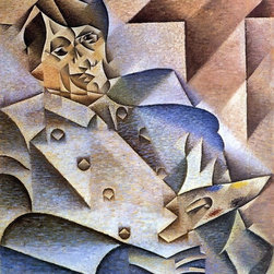 """Art MegaMart - Juan Gris Portrait of Picasso - 20"""" x 25"""" Premium Canvas Print - 20"""" x 25"""" Juan Gris Portrait of Picasso premium canvas print reproduced to meet museum quality standards. Our museum quality canvas prints are produced using high-precision print technology for a more accurate reproduction printed on high quality canvas with fade-resistant, archival inks. Our progressive business model allows us to offer works of art to you at the best wholesale pricing, significantly less than art gallery prices, affordable to all. We present a comprehensive collection of exceptional canvas art reproductions by Juan Gris."""