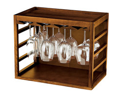 Wine Enthusiast - Wine Enthusiast Cube-Stackable Hardwood Glass Rack - Are you lacking on cupboard space in your kitchen? These racks are designed to store all of your wineglasses, goblets and flutes with ease. They're made of strong wood, allowing you to stack them high if necessary. Each rack holds eight to 16 stems.