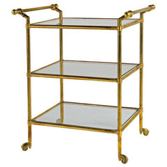 traditional bar carts by Dering Hall