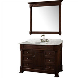 "Wyndham Collection - Wyndham Andover 48"" Vanity Set Dark Cherry - A new edition to the Wyndham Collection, the beautiful Andover bathroom vanity series represents an updated take on traditional styling. The Andover is a keystone piece, with strong, classic lines and an attention to detail."