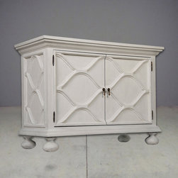 white scalloped sideboard - view this item on our website for more information + purchasing availability: http://redinfred.com/shop/category/furnish/storage/cabinets-shelving-sideboards/white-scalloped-sideboard/