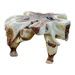Uttermost Sono Root Table - Stunning display of nature's beauty in the natural colors, burls, and formations of these reclaimed tree roots. Stunning display of nature's beauty in the natural colors, burls and formations of these reclaimed tree roots.