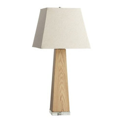 Contemporary Wood Veneer Kirkwood Table Lamp - *Kirkwood Table Lamp