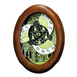 Rhythm Clocks - Nostalgia Oak Legend Musical Beatles Wall - Sound Clips - Help! Hey Jude Yesterday Let It Be All My Loving A Hard Day's Night Watch the clocks in action by clicking the Video Tab on the product page. At the top of each hour, the MAGIC Begins!