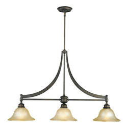 Murray Feiss Lighting - Murray Feiss Lighting-F1923/3ORB-Billard 3 Light - Contemporary collection with country style motifs. The oil rubbed Bronze finish and frosted amber glass completes the look.