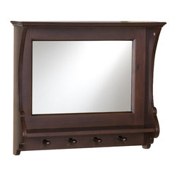 Holly & Martin - MacKenzie Entry Mirror - This entryway mirror is a unique addition to your home. Perfect for your front hallway or main entrance, this piece is timeless. From its French inspired curves to its practicality, this mirror is the perfect wall addition. This mirror has four hooks, great for coats, scarves or even your four-legged family member's leash!