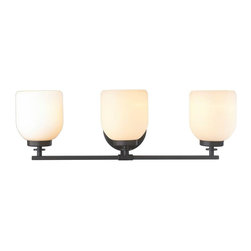 World Imports - Kelly 3-Light Bath Bar, Oil Rubbed Bronze - All metal construction with an oil rubbed bronze finish