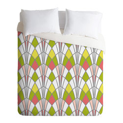 DENY Designs - Heather Dutton Arcada Citrus Duvet Cover - Turn your basic, boring down comforter into the super stylish focal point of your bedroom. Our Luxe Duvet is made from a heavy-weight luxurious woven polyester with a 50% cotton/50% polyester cream bottom. It also includes a hidden zipper with interior corner ties to secure your comforter. it's comfy, fade-resistant, and custom printed for each and every customer.