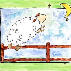 Oh How Cute Kids by Serena Bowman - Sleep Sheep, Ready To Hang Canvas Kid's Wall Decor, 8 X 10 - Each kid is unique in his/her own way, so why shouldn't their wall decor be as well! With our extensive selection of canvas wall art for kids, from princesses to spaceships, from cowboys to traveling girls, we'll help you find that perfect piece for your special one.  Or you can fill the entire room with our imaginative art; every canvas is part of a coordinated series, an easy way to provide a complete and unified look for any room.