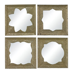 Sterling Industries - Pine Island-Set Of 4 Moroccan Motif Inspired Mirrors - Pine Island-Set Of 4 Moroccan Motif Inspired Mirrors