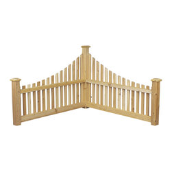 Rustic Natural Cedar - Rustic Natural Cedar 600550 Wood Corner Fence - - Height: 31""
