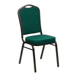 Flash Furniture - Flash Furniture Banquet Stack Chairs Banquet Stack Chairs - This is one tough chair that will withstand the rigors of time. With a frame that will hold in excess of 500 lbs., the HERCULES Series Banquet Chair is one of the strongest banquet chairs on the market. You can make use of banquet chairs for many kinds of occasions. This banquet chair can be used in Church, Banquet Halls, Wedding Ceremonies, Training Rooms, Conference Meetings, Hotels, Conventions, Schools and any other gathering for practical seating arrangements. The banquet chair is also great for home usage from small to large gatherings. For any environment that you use a banquet chair it will put your guests at a greater comfort level with the padded seat and back. Another advantage is the stacking capability that allows you to move the chairs out of the way when not in use. With offerings of comfort and durability, you can be assured that you can enjoy this elegant stacking banquet chair for years to come. [FD-C01-GOLDVEIN-GN-GG]