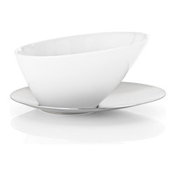 Blomus - White Porcelain Bowl - This white porcelain biscuit bowl by Blomus is dishwasher safe and shaped perfectly for dipping that favorite biscotti.
