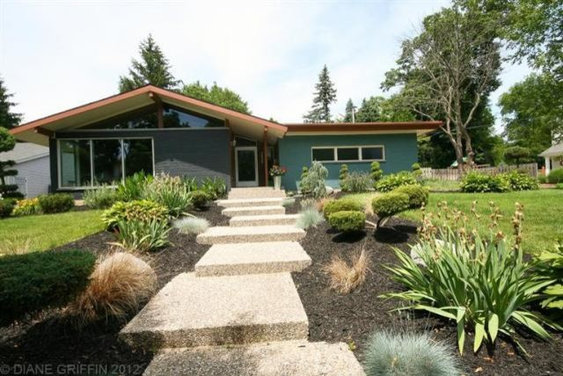 Choosing paint color for exterior of mid-century modern home - Houzz