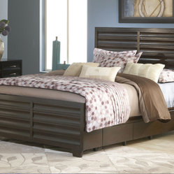 Modus Contour Two Drawer Storage Bed in Ebony