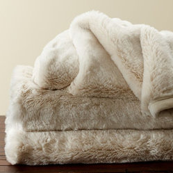 Faux Fur Throw, Ivory