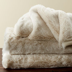 Faux Fur Throw, Ivory - A faux fur throw? Don't mind if I do. My feet are always chilly, and the soft texture of this blanket is exactly what they'll love.